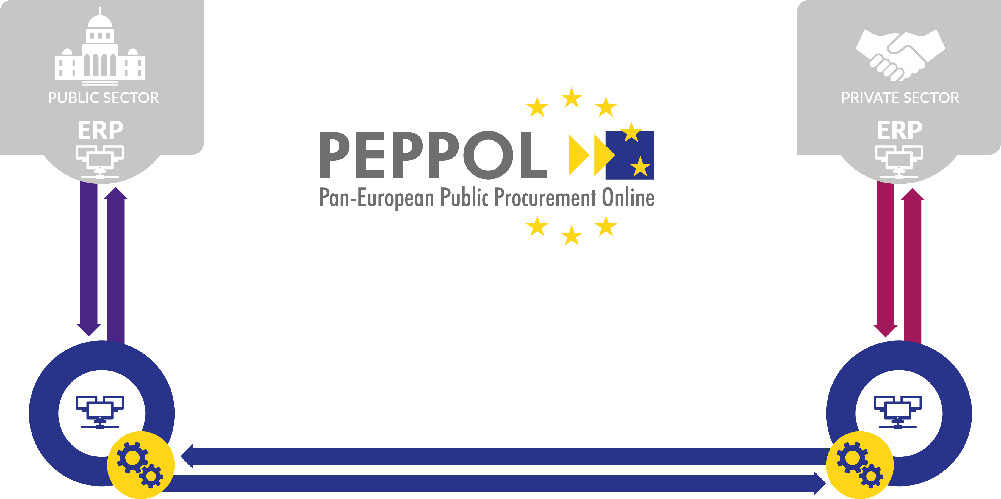 How to send e-invoices peppol network to government and ministries